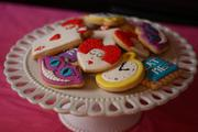 Alice Wonderland cookie platter 2