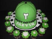 Baseball Birthday Cake & Cupcakes
