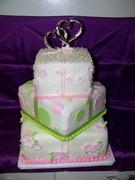 Pink/Green Wedding cake