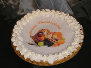 Pumpkin Pie with edible image