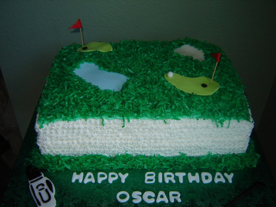 Outstanding Golf Birthday Cake Cake Decorating Community Cakes We Bake Birthday Cards Printable Opercafe Filternl