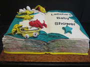 Dr.Suess Inspired Baby Shower cake