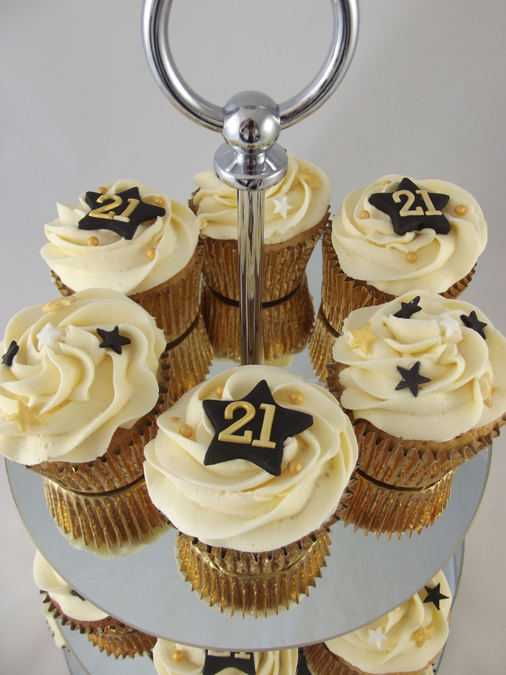 Tremendous 21St Birthday Cupcakes Cake Decorating Community Cakes We Bake Funny Birthday Cards Online Fluifree Goldxyz