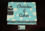 Dummy cake to match biz card