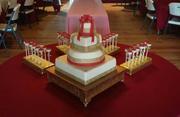 50th Anniversary Cake w/Matching Cake Pops