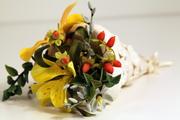 Gumpaste Tussie Mussie filled with gumpaste flowers