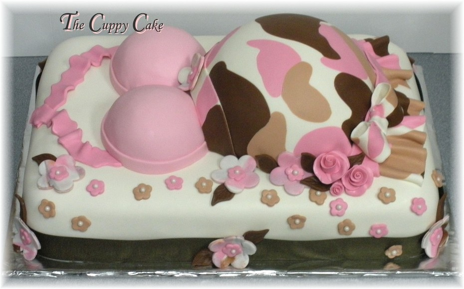Phenomenal Pink Camo Cake Decorating Community Cakes We Bake Funny Birthday Cards Online Overcheapnameinfo