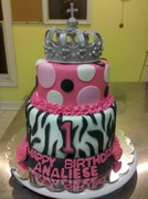 Royal Crown Zebra Print Cake