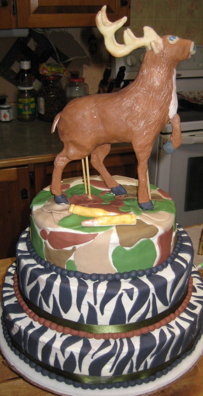 Admirable 002 14 Deer Birthday Cake Cake Decorating Community Cakes We Birthday Cards Printable Inklcafe Filternl