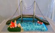 Mackinac Bridge Wedding Cake