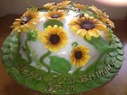 Fondant Fetish - Sunflower Garden Cake