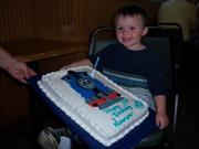 Sawyer's 3rd birthday, Mommal made your cake
