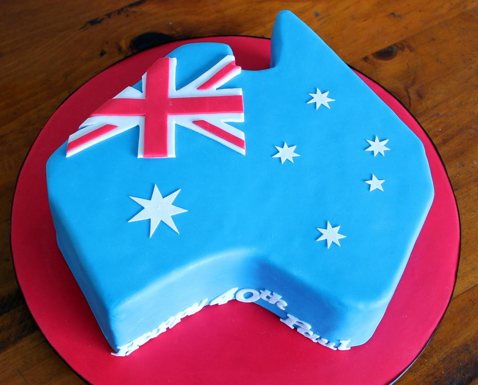 Australia Cake for a True Blue Aussie!