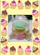 cupcake in a dome container