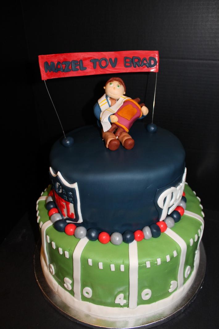 Patriots Bar Mitzvah Cake