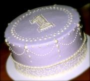 Vintage Lavender & Cream Smash Cake