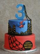 Spiderman themed birthday cake