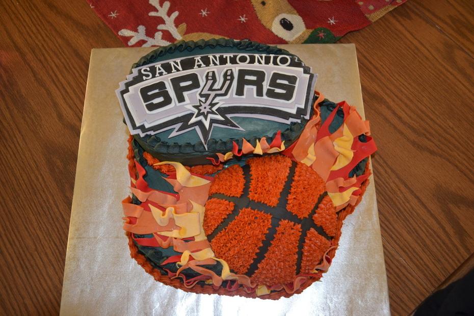 Magnificent San Antonio Spurs Birthday Cake Cake Decorating Community Birthday Cards Printable Trancafe Filternl