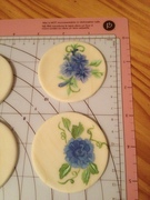 Blue Hand Painted Fondant Cupcake Toppers