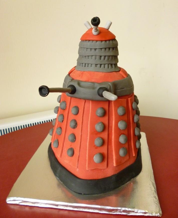 Red Dalek Birthday Cake