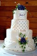 Couture Wedding Dress Cake
