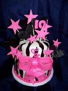 Pink and Black 10th Birthday
