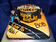 Live to Ride Harley Cake