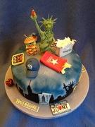 Fondant Fetish - New York New York cake