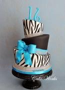 Sweet 16 Zebra and Bling