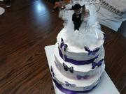 chris and crystal's wedding cake