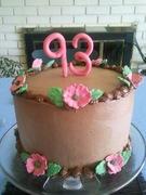 93rd Birthday Cake