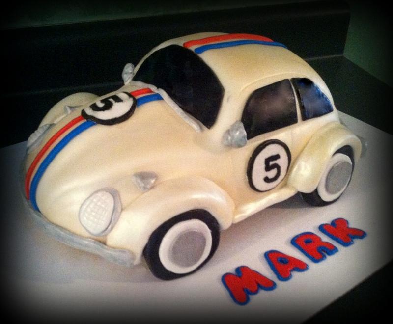 Herbie birthday cake for my 5 year old nephew