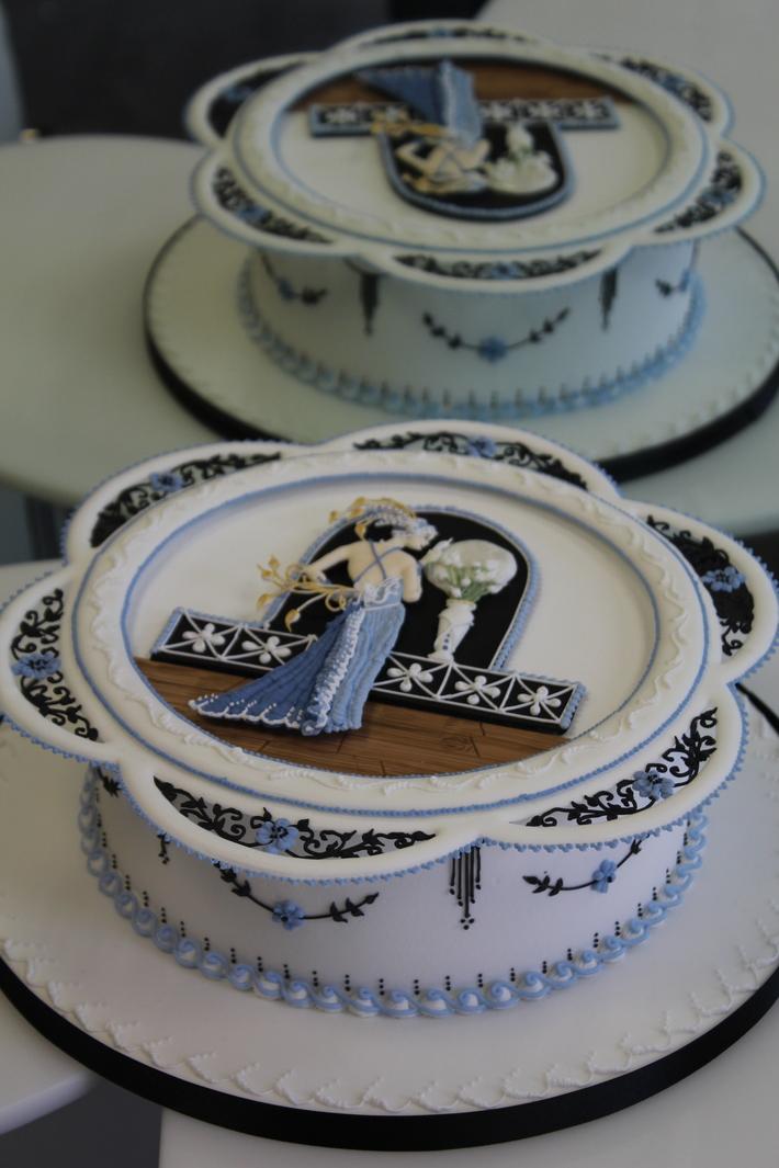 Art Deco Royal Iced cake-S713F
