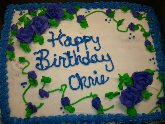 Chris's 2013 birthday Cake