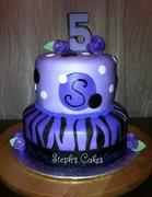 Purple Zebra Stripes Cake