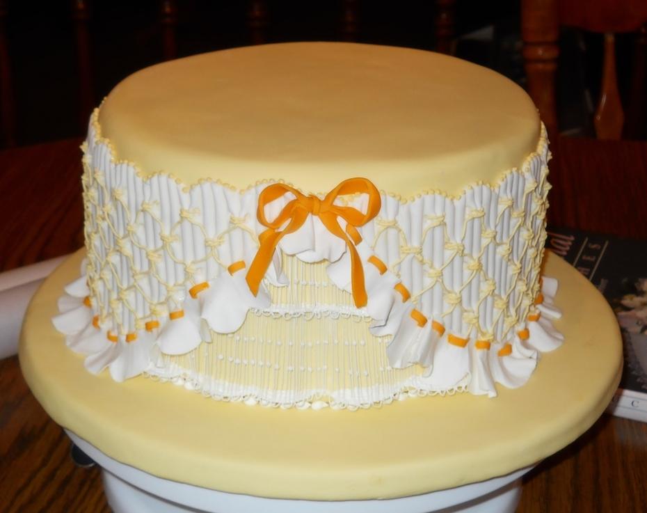 Yellow Smocked Cake - S713F