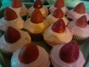 strawberry jumbo cupcakes