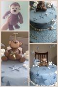 Fondant Fetish - Monkey toy christening cake
