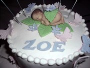 fondant baby with butterflies