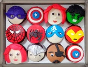 Set of Avengers cupcakes