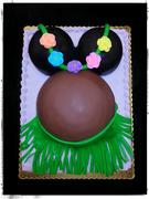 Hula Baby Bump cake