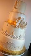 Vintage Glam Butter Cream Wedding Cake