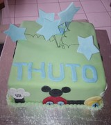 Mickey-Mouse Club house cake
