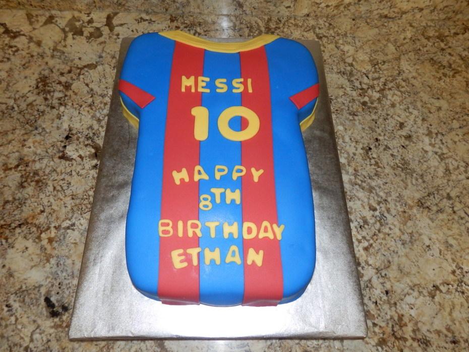 Messi Jersey Birthday Cakes