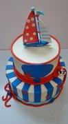 Buttercream Nautical Baby Shower Cake