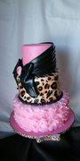 Pink Cheetah Birthday Cake
