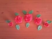 trandafiri din pasta de zahar