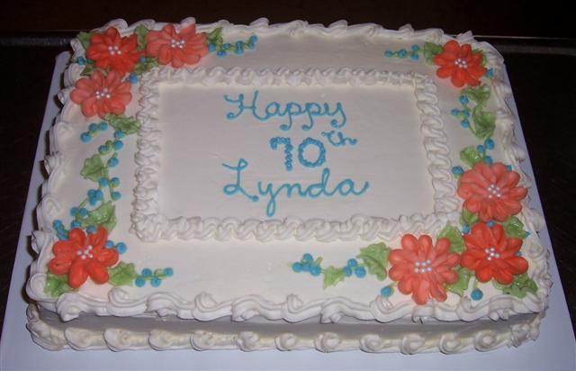 Birthday- Lynda 70th