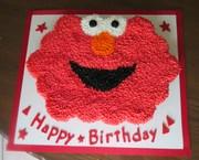 Elmo Birthday pull-apart cupcake cake