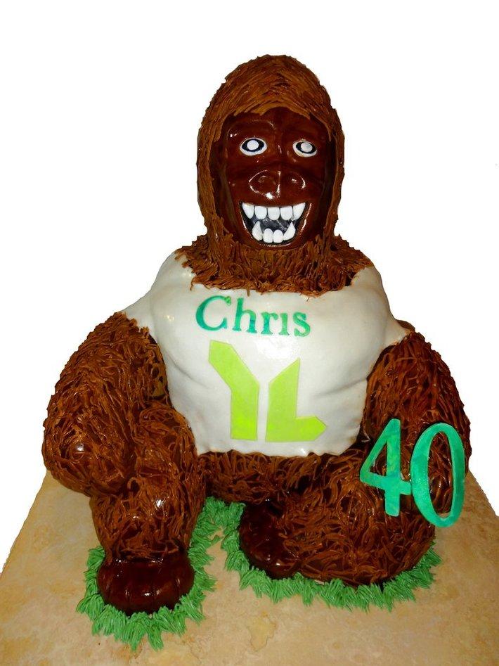 Skunk Ape 40th Birthday cake